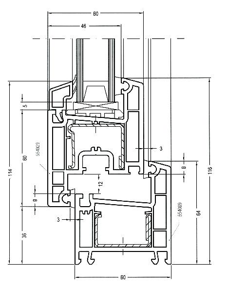 REHAU Blitz Design в разрезе