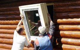 замер и монтаж окон на даче